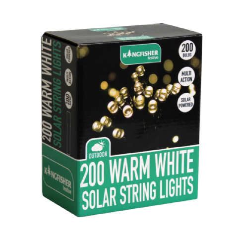 Warm White Outdoor 200 LED Multi Action Christmas Tree Solar String Lights